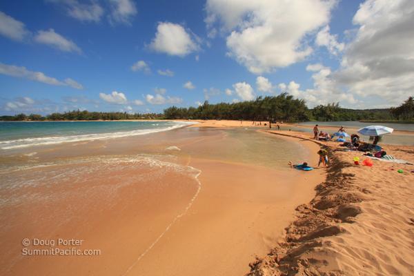 Anahola Beach Park On The East Coast Of Kauai